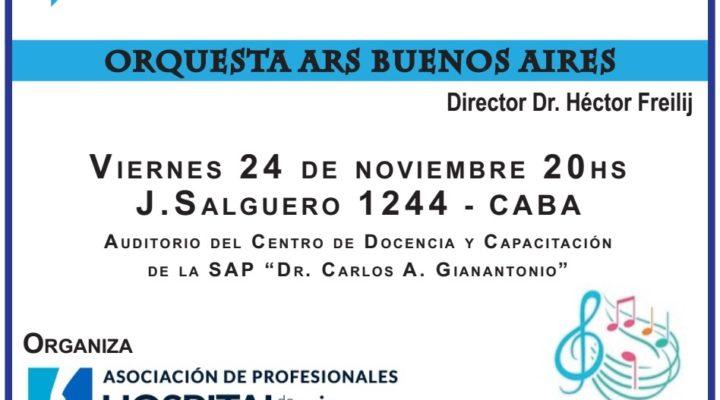 El 24 de noviembre se realizará el Concierto Aniversario 12 años de la Revista del Hospital de Niños